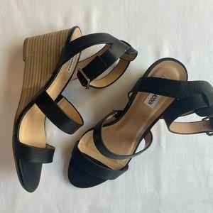 Black Steve Madden wedge sandals